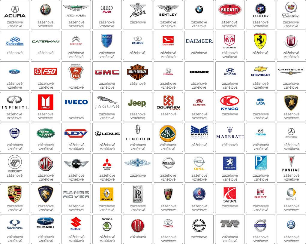 značky aut